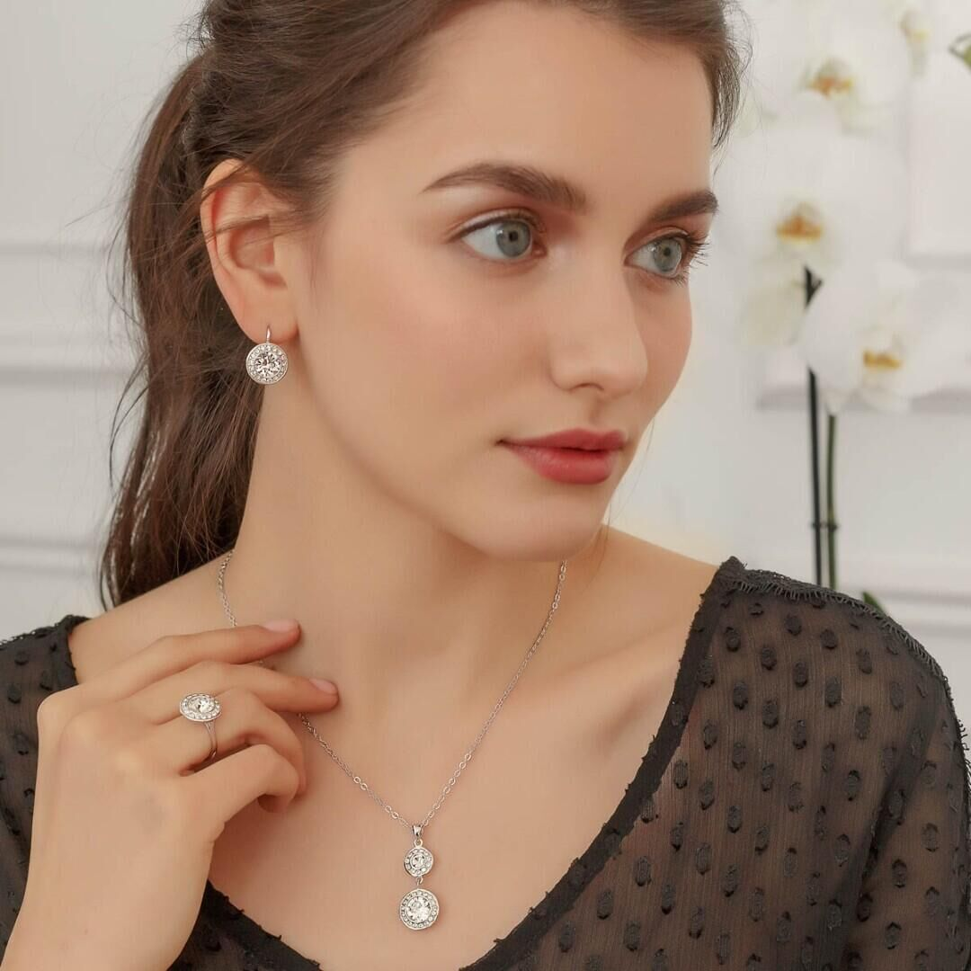 Кольцо Isabelle rhodium  Crystal, MJ Paris, Swarovski ®