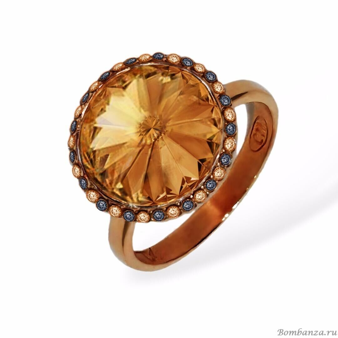 Кольцо Enigme soir gold Citrine, MJ Paris, Swarovski ®