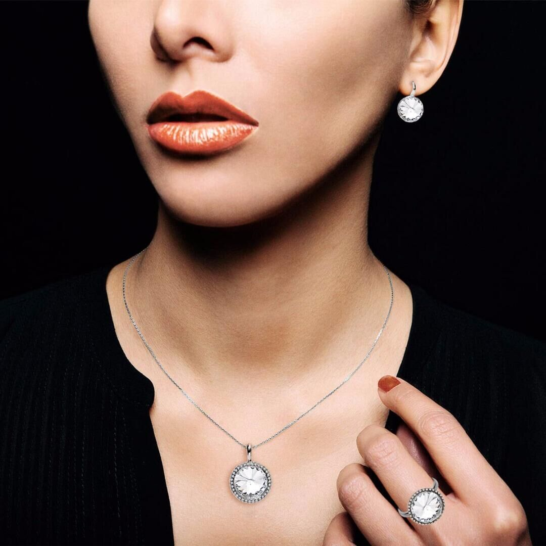 Кольцо Enigme soir rhodium Crystal, MJ Paris, Swarovski ®
