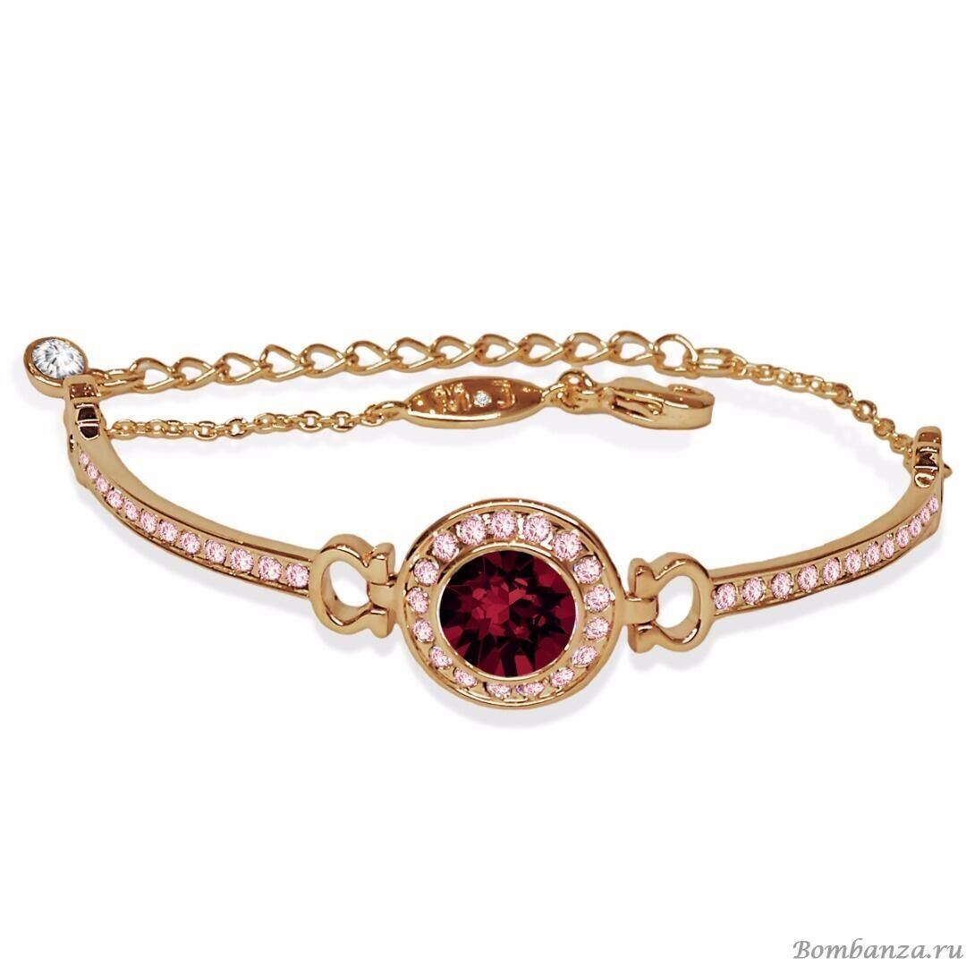 Браслет Isabelle gold Burgundy, MJ Paris, Swarovski ®