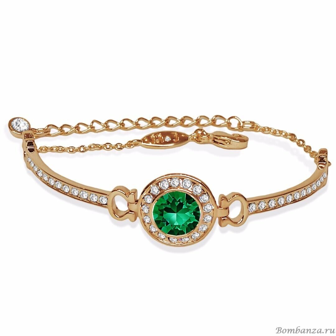 Браслет Isabelle gold Emerald, MJ Paris, Swarovski ®