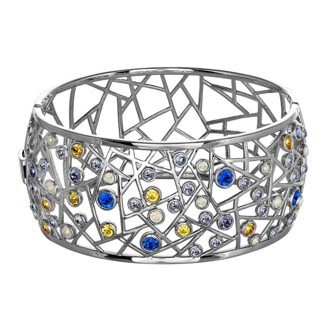 Браслет Boheme rhodium Majesty Blue, MJ Paris, Swarovski ®