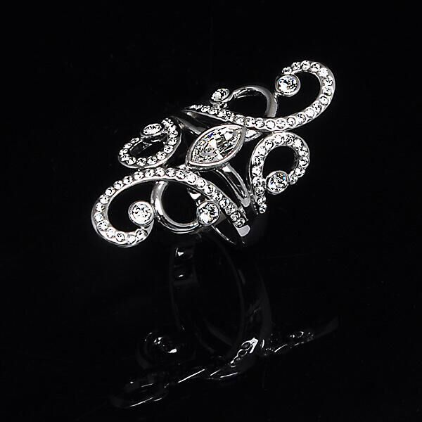 Кольцо Ajour-de-Paris  rhodium crystal, MJ Paris, Swarovski ®