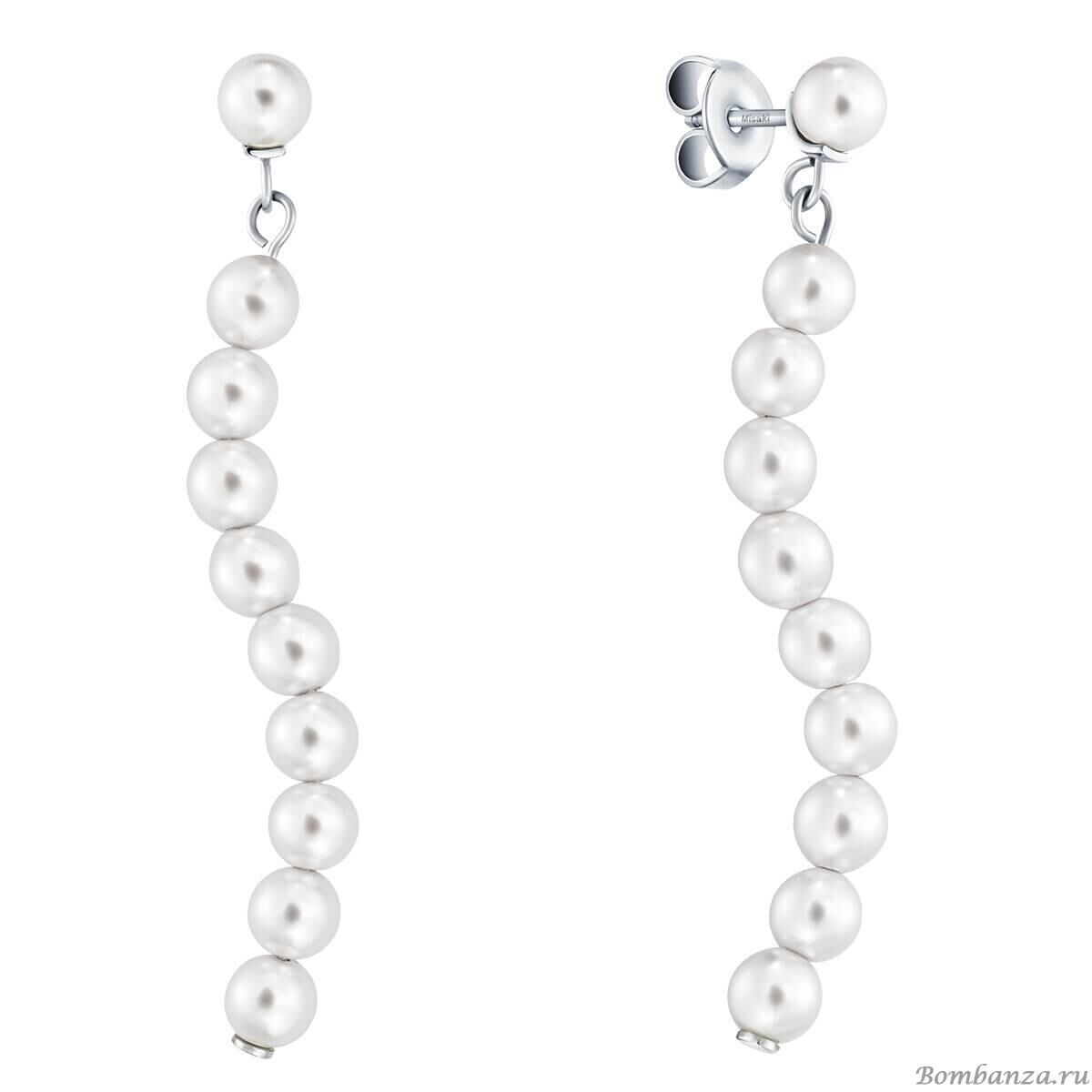 Серьги Misaki Earrings Night Pearls ENIGHTPEARLS BW/S