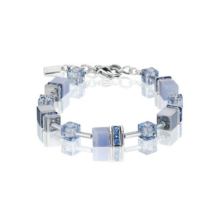 Браслет Coeur de Lion GeoCUBE, Light Blue, 4017/30-0720. Германия